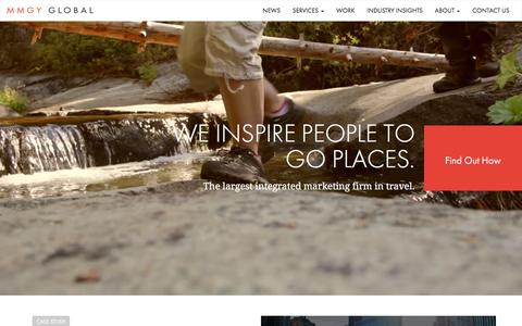 Screenshot of Home Page mmgyglobal.com - Travel & Hospitality Marketing Firm   MMGY Global   Tourism Advertising Agency - captured Dec. 19, 2015