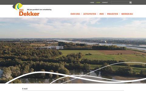 Screenshot of Login Page dekkergroep.nl - Login - captured Oct. 8, 2018