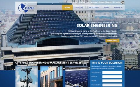 Screenshot of Home Page kmbdg.com - Home - KMB Design Group is a full service engineering firm : KMB Design Group - captured Oct. 8, 2014