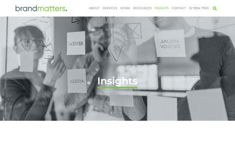 Screenshot of Blog brandmatters.com.au - Blog   BrandMatters   BrandMatters - captured March 21, 2019