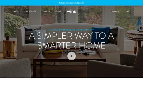 Screenshot of Home Page wink.com - Wink | A Simpler Way to a Smarter Home - captured Oct. 15, 2015