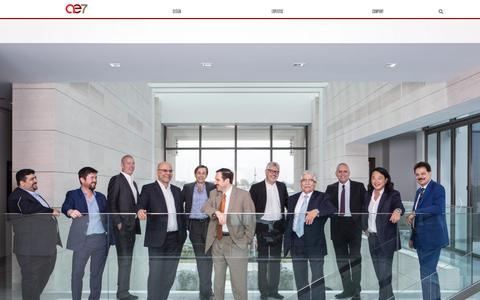 Screenshot of Team Page ae7.com - Leadership - AE7 - captured July 28, 2018