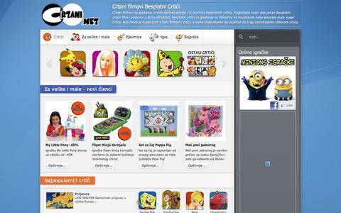 Screenshot of Home Page crtani.net - Crtani filmovi Besplatni Crtići - captured Nov. 23, 2015