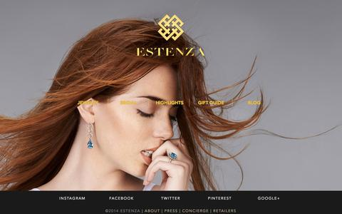 Screenshot of Home Page estenza.com - Estenza Fine Jewelry - Official Website - captured Sept. 30, 2014