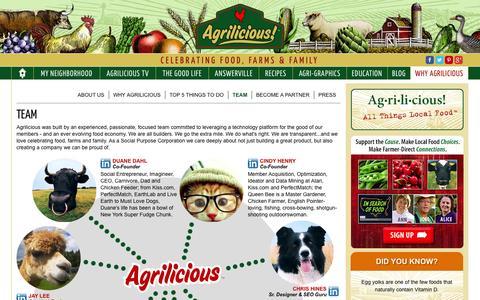 Screenshot of Team Page agrilicious.org - Agrilicious Team | Agrilicious! - captured Sept. 19, 2014