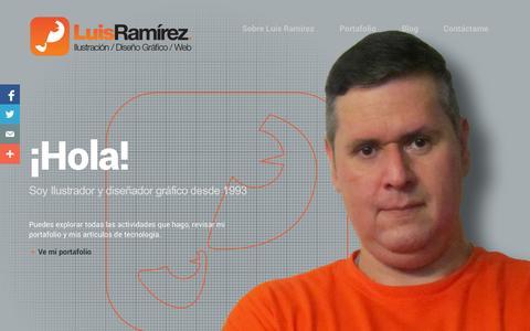 Screenshot of Home Page luisraa.com - Luis Ramírez - Ilustrador - Pagina Web oficial de LuisRaa - captured Jan. 21, 2015