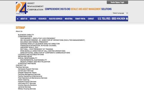 Screenshot of Site Map Page 24asset.com - Sitemap | 24 Asset Management Corporation - captured Oct. 27, 2014