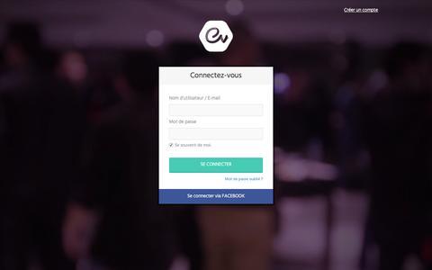 Screenshot of Login Page ev.ma - Se connecter à Ev.ma | Ev.ma - captured Jan. 31, 2016