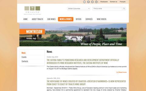 Screenshot of Press Page trialto.com - News  - Trialto - captured Oct. 7, 2014