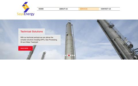 Screenshot of Services Page sayaenergy.com - Saya Energy I Oil & Gas Services  | SERVICES - captured May 28, 2017