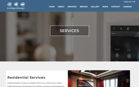 Screenshot of Services Page id-fl.com - Services | IntelligentDesign - captured Nov. 14, 2018