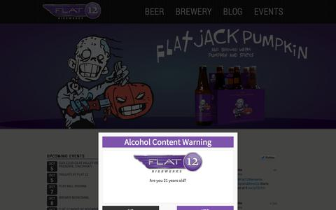 Screenshot of Home Page flat12.me - FLAT12 Bierwerks | Indianapolis, Indiana craft brewery. - captured Oct. 6, 2014