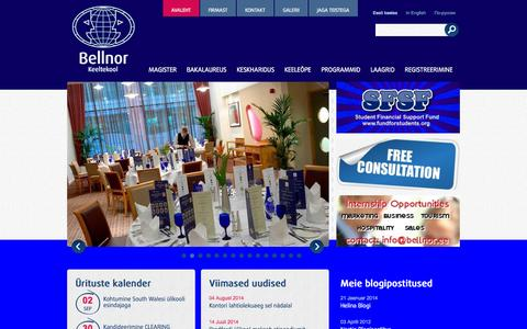 Screenshot of Home Page bellnor.ee - Kõrgharidus välismaal | Bellnor - captured Sept. 22, 2014