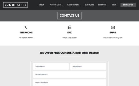 Screenshot of Contact Page lundhalsey.com - Contact | Lund Halsey - captured May 24, 2017