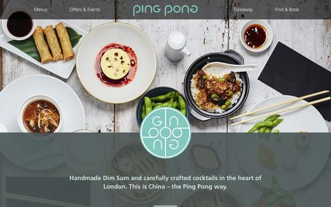 Screenshot of Home Page pingpongdimsum.com - Ping Pong - Chinese Dim Sum & Cocktails - captured Nov. 4, 2018