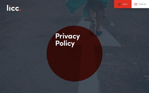 Screenshot of Privacy Page licc.org.uk - Privacy Policy | LICC - captured July 10, 2017