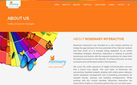 Screenshot of About Page rosemaryinteractive.in - Rosemary Interactive | Digital Creative Agency - captured Aug. 15, 2016