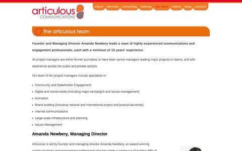 Screenshot of Team Page articulous.com.au - the articulous team - Articulous - captured Oct. 4, 2014