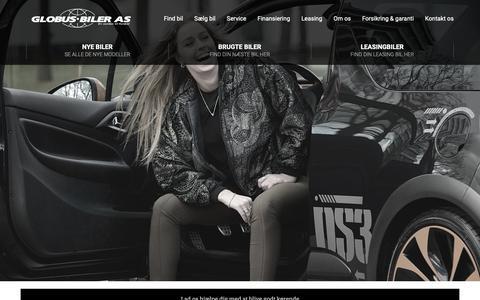 Screenshot of Home Page globus.dk - Brugte biler til salg - 2 års garanti på bilkøb hos Globus Biler - captured Dec. 13, 2018