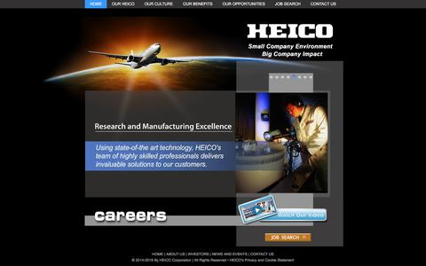 Screenshot of Jobs Page heico.com - HEICO Careers - captured Sept. 26, 2018
