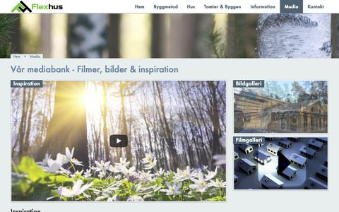 Screenshot of Press Page flexhus.se - Media | Flexhus - captured Aug. 4, 2016