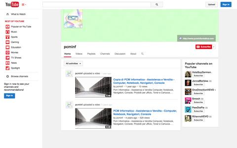 Screenshot of YouTube Page youtube.com - pcminf  - YouTube - captured Oct. 22, 2014