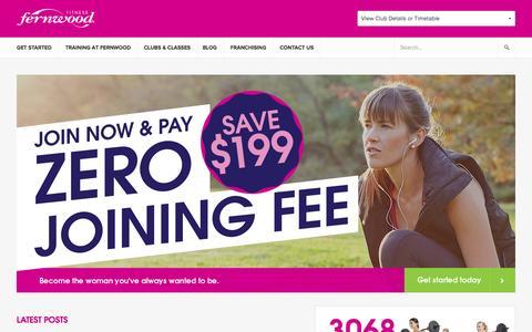 Screenshot of Home Page fernwoodfitness.com.au - Fernwood Fitness Women's Gyms Australia - Health & Fitness Clubs - captured Aug. 3, 2015