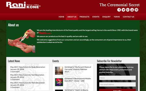 Screenshot of About Page ranikone.com - About us | – Rani Kone – The Ceremonial Secret - captured Nov. 12, 2017