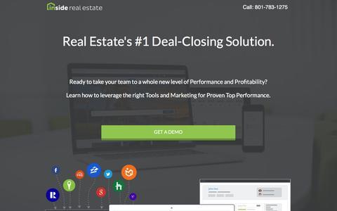 Screenshot of Landing Page insiderealestate.com - Inside Real Estate - Website, Lead-Generation, CRM & Automation System - captured Oct. 18, 2016