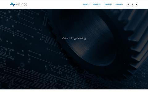 Screenshot of Home Page virinco.com - Virinco - captured Oct. 18, 2018
