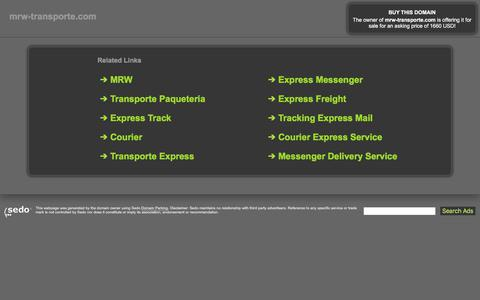 Screenshot of Home Page mrw-transporte.com - mrw-transporte.com - This website is for sale! - consignment express transport logistics pets social action messenger money transfers messenger Resources and Information. - captured Sept. 22, 2017