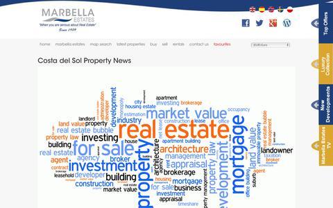 Screenshot of Blog marbella-estates.com - Costa del Sol Property News - captured Jan. 17, 2018