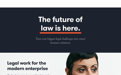 Screenshot of Home Page axiomlaw.com - The global leader in legal services | Axiom - captured Feb. 9, 2018