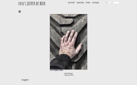 Screenshot of Home Page jasperdeboer.nl - jasper de boer - captured Feb. 2, 2016