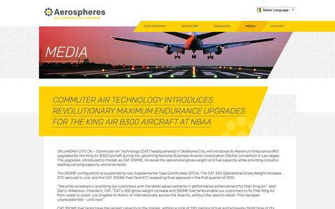 Screenshot of Press Page commuterair.com - Media   Aerospheres - captured Nov. 30, 2015