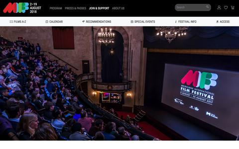 Screenshot of Jobs Page miff.com.au - MIFF 2018 | Work for MIFF - captured July 12, 2018