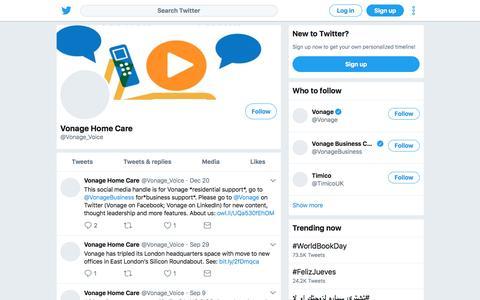 Tweets by Vonage Home Care (@Vonage_Voice) – Twitter