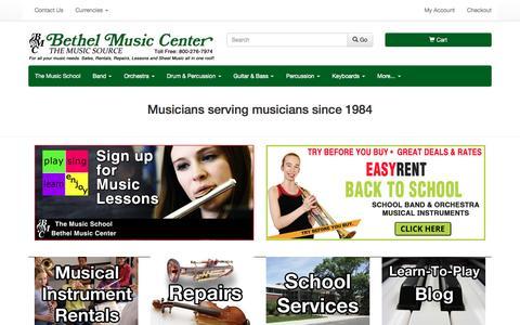 Screenshot of Home Page bmcmusicsource.com - Bethel Music Center - captured Nov. 22, 2016