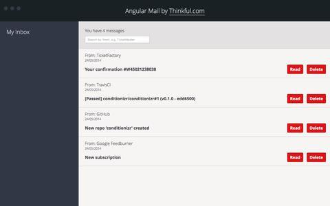 AngularJS Email App