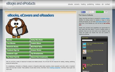 Screenshot of Home Page ebook-site.com - eBooks and eProducts - eBooks, eCovers and eReaders - captured Sept. 18, 2014