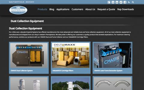 Screenshot of Products Page isystemsweb.com - Industrial Dust Collection Equipment  Imperial Systems, Inc. - captured Oct. 6, 2014