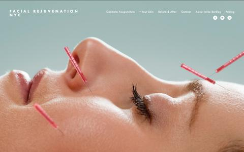 Screenshot of Home Page aboutface-ny.com - Facial Rejuvenation NYC - captured Sept. 10, 2015