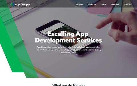 Screenshot of Home Page appschopper.com - App Development Company: Offer Apps Design & Development Services - captured June 28, 2018