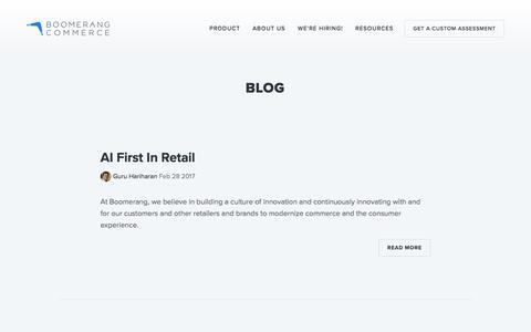 Screenshot of Blog boomerangcommerce.com - Blog — Boomerang Commerce - captured March 2, 2017
