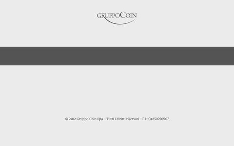 Screenshot of Home Page gruppocoin.it - Gruppo Coin - Italian Leader in Fashion Retail | Gruppo Coin - captured Sept. 30, 2018