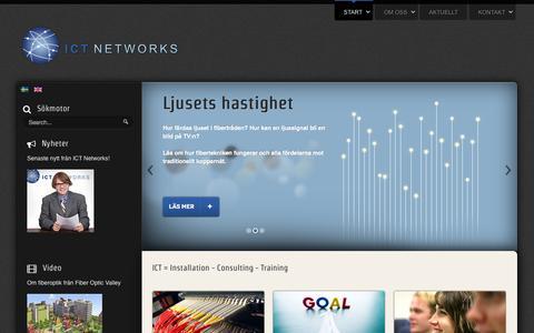 Screenshot of Home Page ictnet.se - ICT Networks - Start - captured Oct. 3, 2014