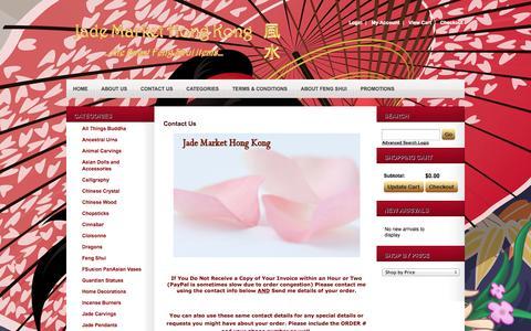 Screenshot of Contact Page jademarkethongkong.com - Contact Us - captured Sept. 30, 2014