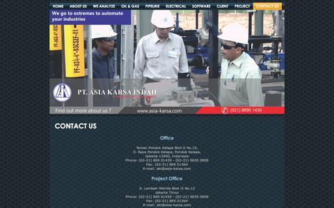 Screenshot of Contact Page asia-karsa.com - Contact Us - captured Jan. 23, 2016