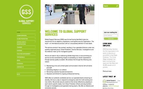 Screenshot of Home Page global-support.org - Home |  Global Support Services - captured Oct. 8, 2014