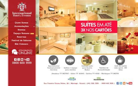 Screenshot of Home Page hotelinternacional.com.br - Hotel Internacional | Hotel Internacional - captured Aug. 28, 2015